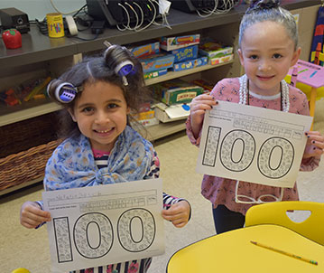 'Old Timers' Enjoy Their 100th Day of School photo